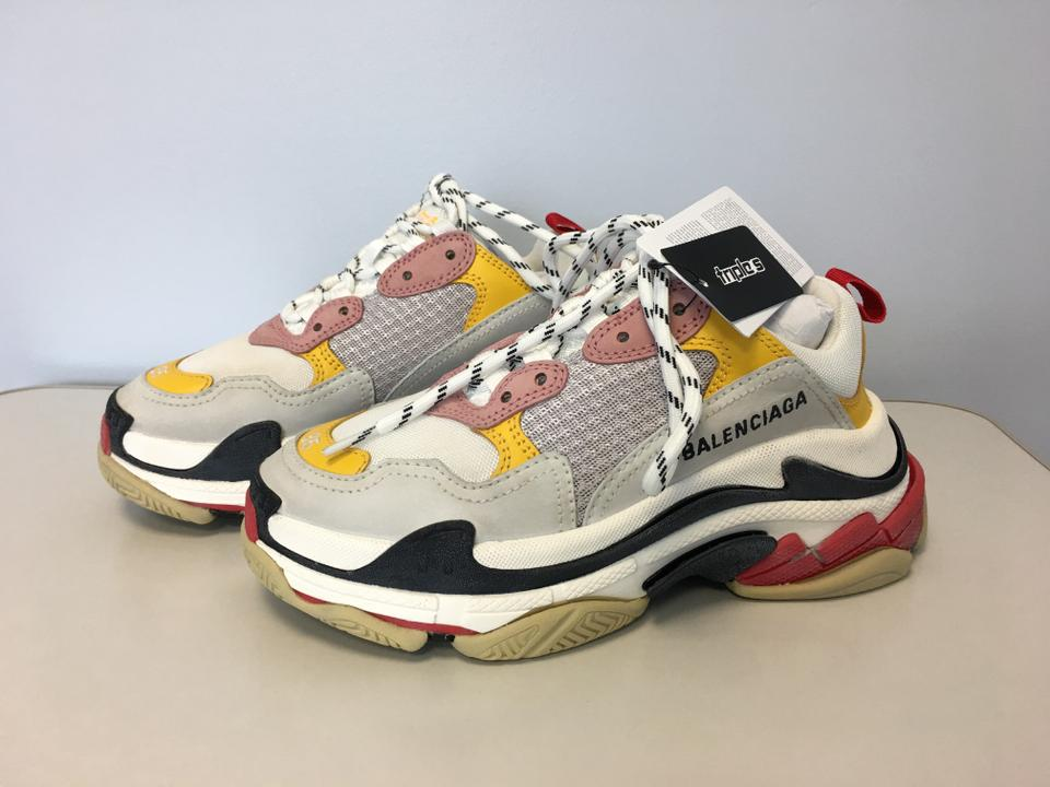 900fd01eb55b Balenciaga Multicolor Classic Triple S Sneaker Yellow White Red Leather  Speed Flat Trainer Sneakers Size EU 35 (Approx. US 5) Regular (M