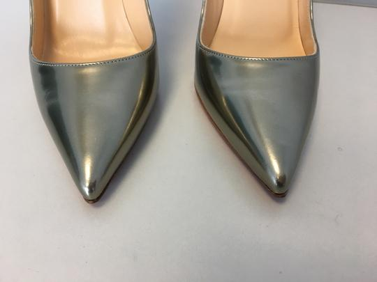 Christian Louboutin So Kate Nude Patent Leather Point-toe Heels Gold Pumps Image 5