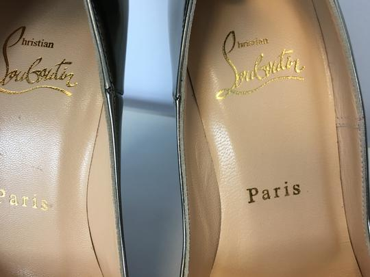 Christian Louboutin So Kate Nude Patent Leather Point-toe Heels Gold Pumps Image 6