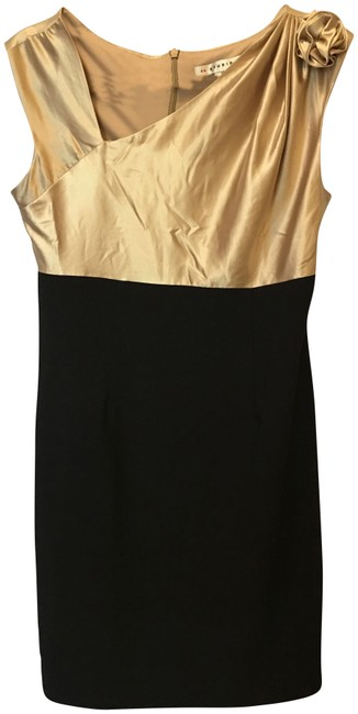Item - Gold and Black Short Night Out Dress Size 10 (M)