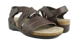 Munro Orthotic Arch Support Comfortable Platform Brown Sandals