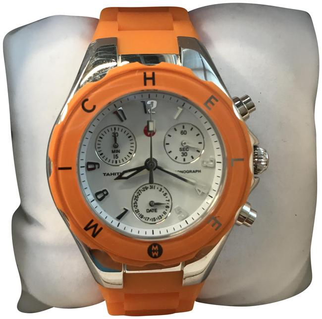 Item - Stainless Steel with Orange Rubber Band Jelly Tahitian Ladies Chronograph Mww12d000005 Watch