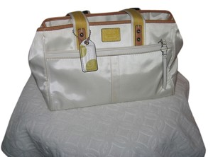 coach Nylon Tote in Off White/Yellow