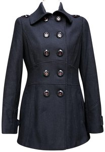 Miss Sixty Wool Blend Military Look Pea Coat