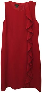Spense Cascading Ruffle Sleeveless Back Slit New With Tags Dress