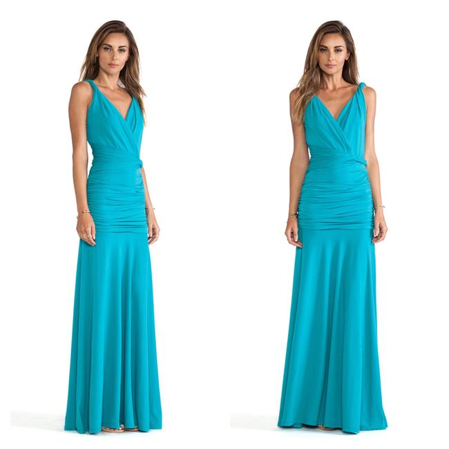 Preload https://img-static.tradesy.com/item/23969339/halston-ruched-gown-long-formal-dress-size-12-l-0-0-650-650.jpg
