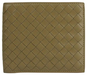 Bottega Veneta Light Brown Soft Leather Woven Bifold Wallet 196207 2640