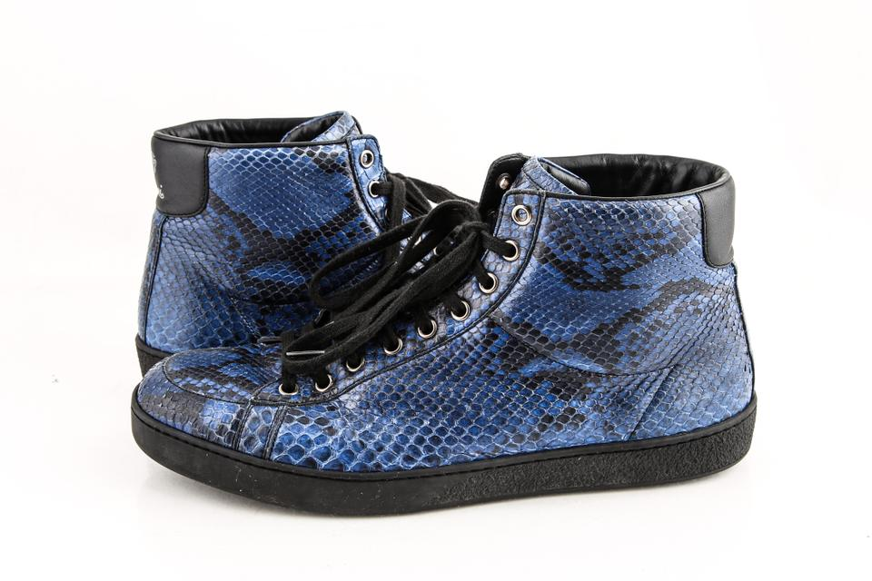 e7cfebed1ef Gucci Blue Sapphire Python High-top Sneaker Shoes Image 0 ...