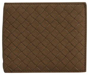 Bottega Veneta Medium Brown Soft Leather Woven Bifold Wallet 196207 2314