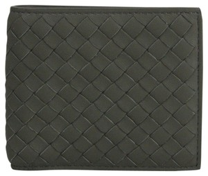 Bottega Veneta Dark Gray Soft Leather Intercciaco Bifold Wallet 196207 1300