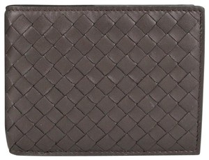 Bottega Veneta Dark Brown Leather Woven Bifold Wallet 148324 V001N 204