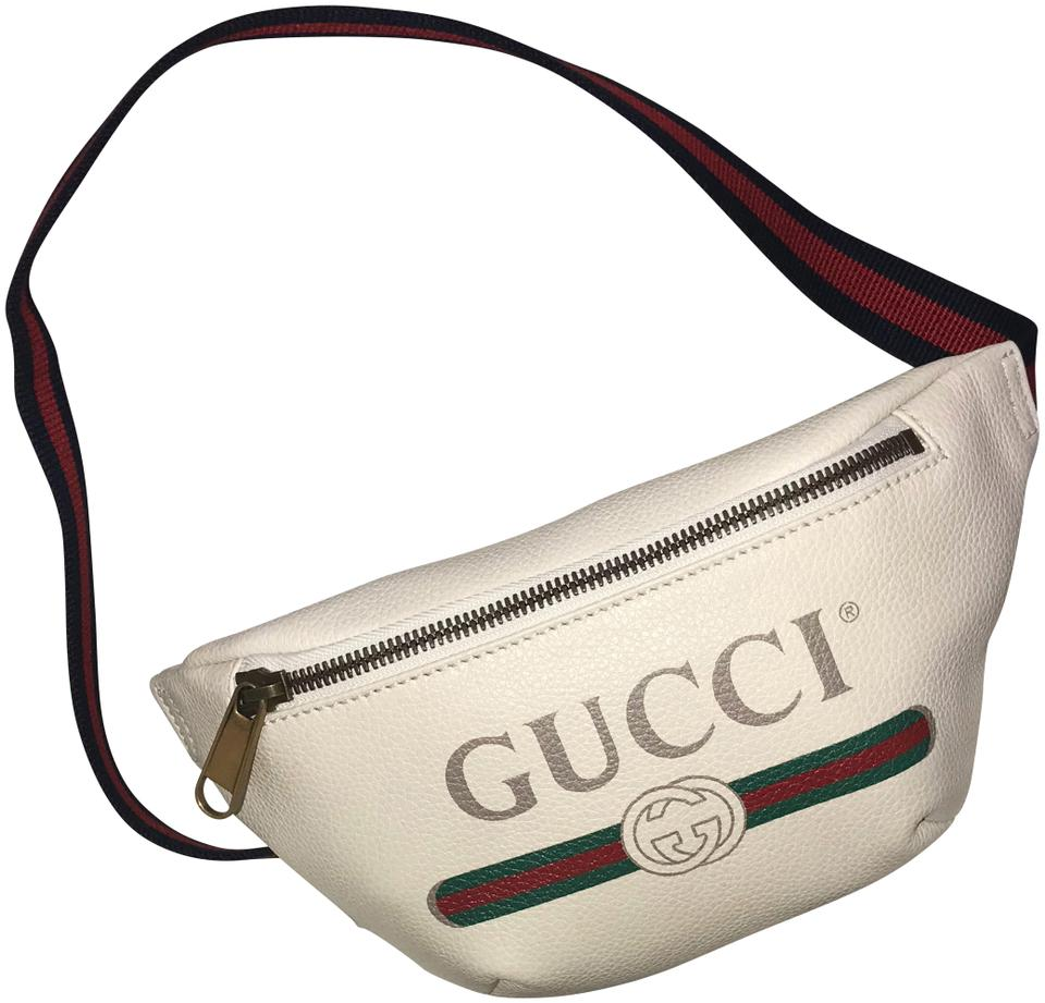 be1cb339e05f Gucci Print Belt Cream Lambskin Leather Cross Body Bag - Tradesy