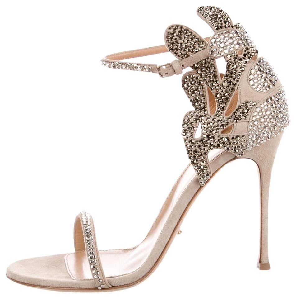 17989fd6f88 Sergio Rossi Nude  Champagne Matisse Royal Strass Crystal Sandals ...