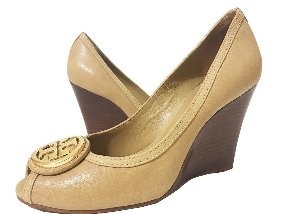 Tory Burch Tan - Leather Wedges Selma - Wedges Leather b2bc19