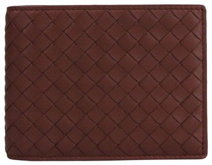 Bottega Veneta Brick Red Leather Intercciaco Bifold Wallet 148324 V001N 2217