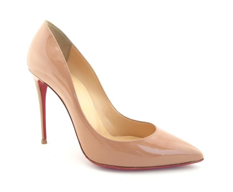 93f9a80961b Christian Louboutin Nude Patent Leather Classic Heel Pumps. Size  EU 38 ...