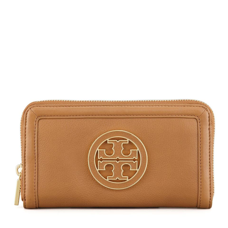 9cae8b0f3a7 Tory Burch Tory Burch Amanda Zip Around Continental Leather Wallet in Royal  Tan Image 0 ...