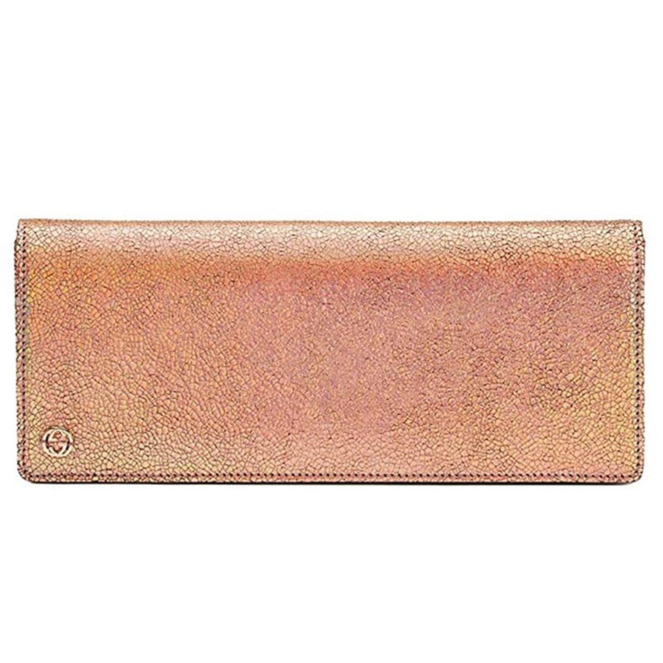 3752f93bc9 Gucci Gucci Broadway Crackled Metallic Leather Clutch Bag 342630 Rose Gold  Image 0 ...