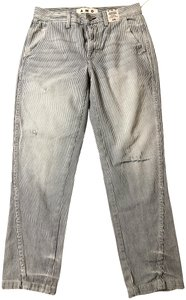 AMO Trouser/Wide Leg Jeans-Distressed