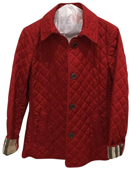 Item - Red with Classic Check Inside Coat Size Petite 4 (S)