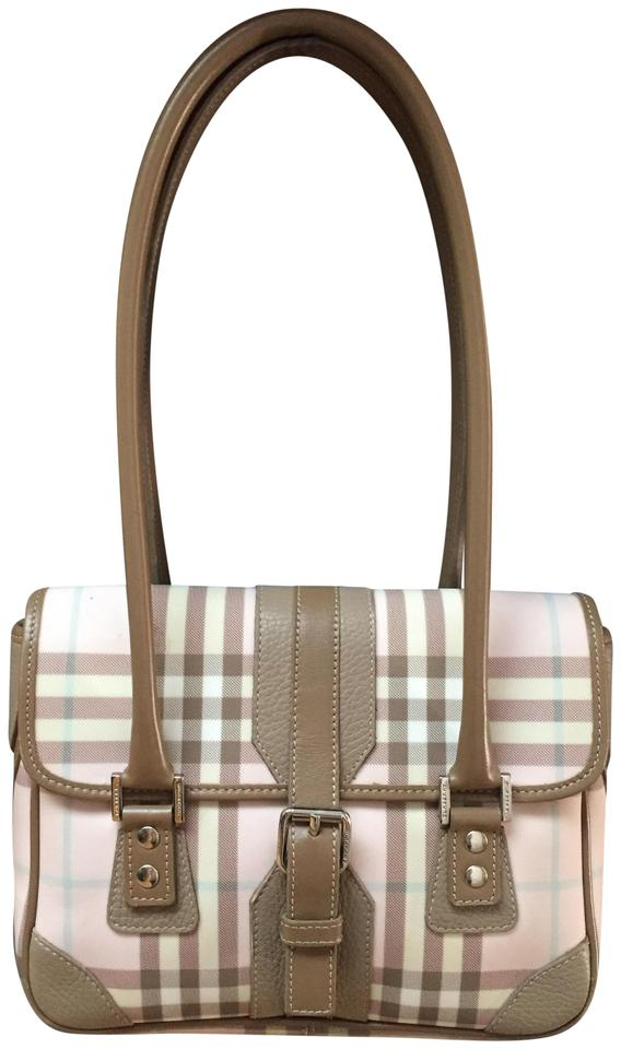 Burberry Nova Plaid Pink Brown and Light Blue Shoulder Bag - Tradesy 7c8a90e18f536