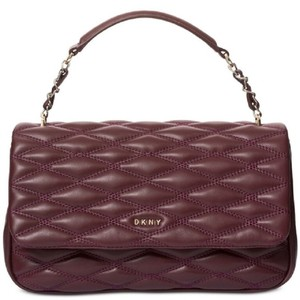 DKNY Fall Leather Quilted Shoulder Bag