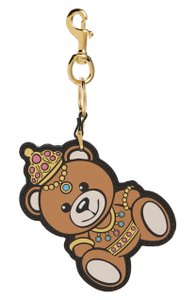 Moschino Moschino Couture Leather Teddy Bear Bag Charm Key Holder New in pouch