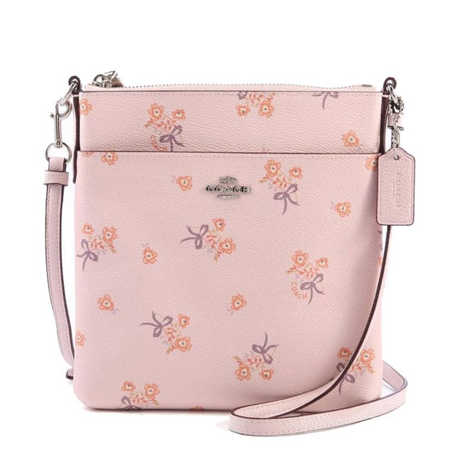 0fdadd329644 Coach Messenger Floral Bow Print Silver Ice Pink Canvas Cross Body ...