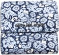 Michael Kors Michael Kors Small Trifold Card Case Carryall Navy Pale Blue Floral