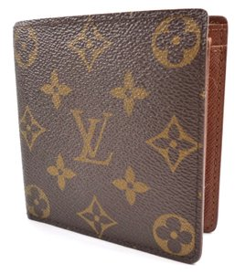 Louis Vuitton Brown Wallet Marco Monogram Canvas Bi-fold Men's Jewelry/Accessory