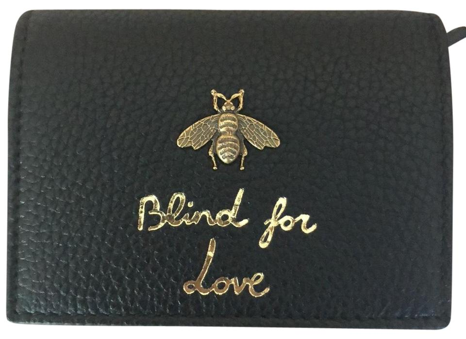 3c9f151a8c7 Gucci Black Blind For Love Wallet - Tradesy