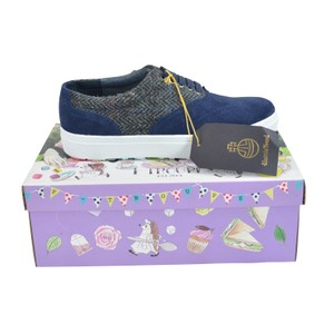 F-Troupe Sneaker Suede 8 Lace Up Navy Athletic