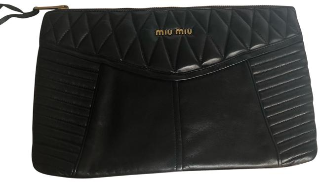 Item - Napa Biker Black Lambskin Leather Clutch