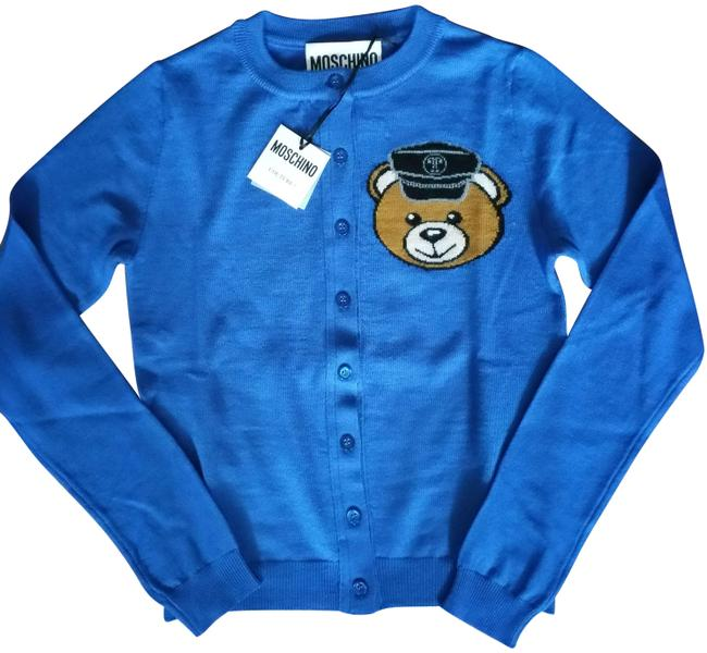 Item - Blue Couture Biker Teddy Bear New with Tags Cardigan Size 4 (S)