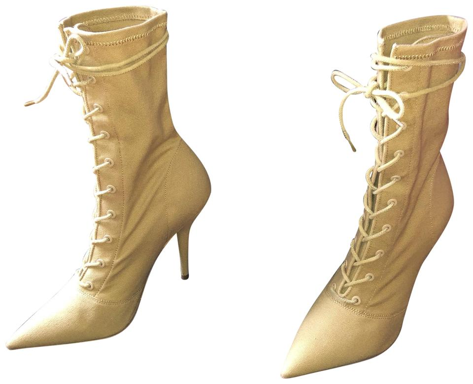 "YEEZY ""dollar"" Stretch Canvas Lace Up Boots Booties Size EU 40 ... 49971aa3e"