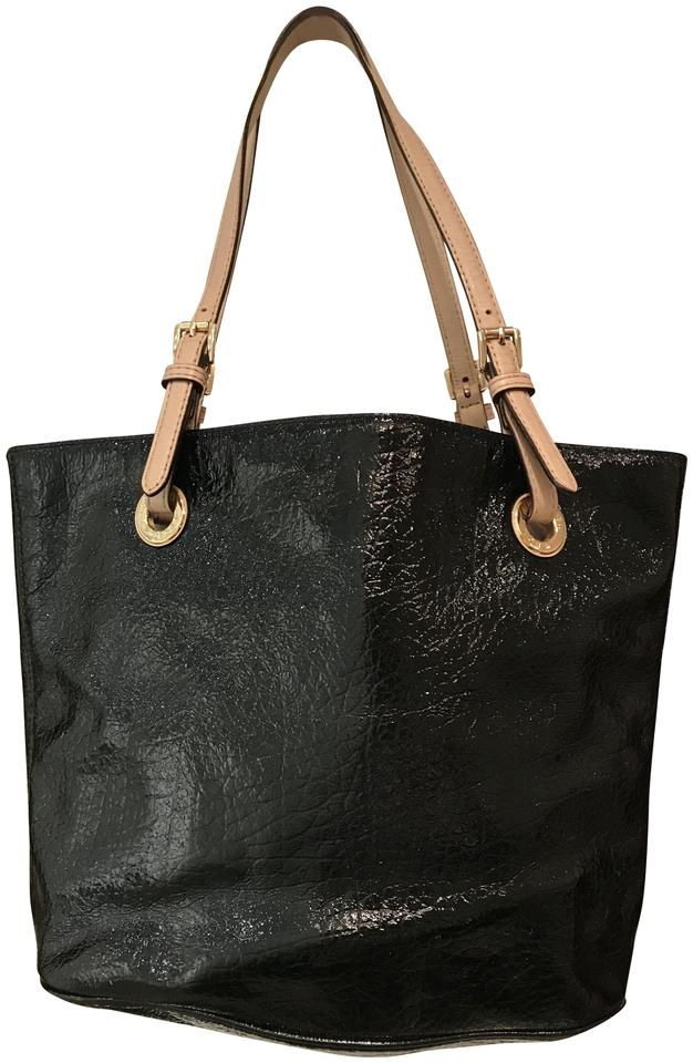 ad9667d40805 Michael Kors Gold Hardware Price Tag Dust Mk Handbag Tote in Black Image 0  ...