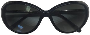 Chanel Black Acetate and Metal Cat-Eye Gradient Sunglasses Style 6037