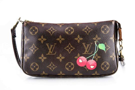 Louis Vuitton Leather Cherries Wristlet in Brown Image 1