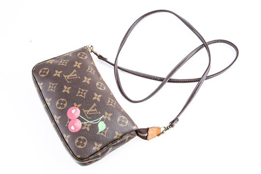 Louis Vuitton Leather Cherries Wristlet in Brown Image 8