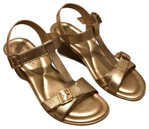 Italian Shoemakers Gold Wedges