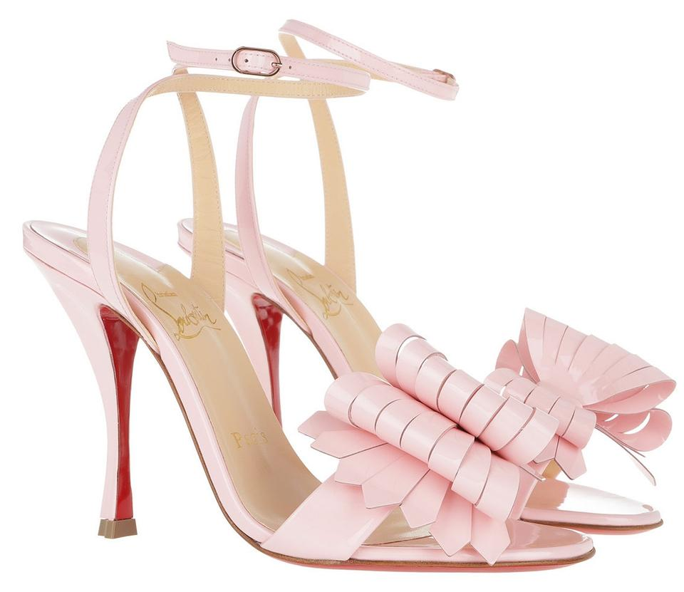 c905fb2d040c Christian Louboutin Pompadour Light Pink Miss Valois 100mm Bow Heels ...