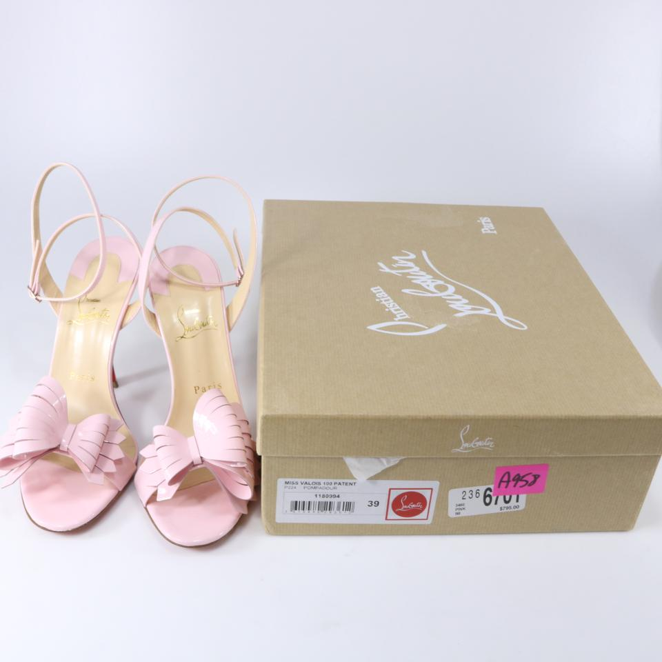dd4061665123 Christian Louboutin Pompadour Light Pink Miss Valois 100mm Bow Heels A958  Sandals Size EU 39 (Approx. US 9) Regular (M