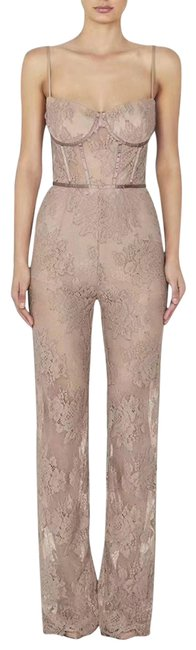 Preload https://img-static.tradesy.com/item/23971574/blush-floral-lace-jumpsuit-pant-suit-size-2-xs-0-1-650-650.jpg