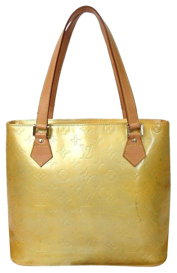 6d3fb160f7b0 Louis Vuitton Houston Tote Yellow with Brown Vernis Shoulder Bag ...