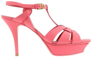 Saint Laurent Ysl Tribute Tribute Sandals Ysl Pink Platforms
