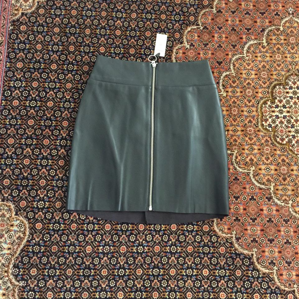 77228bd24 Express Black (Minus The) Leather O-ring A-line Skirt Size 0 (XS, 25 ...