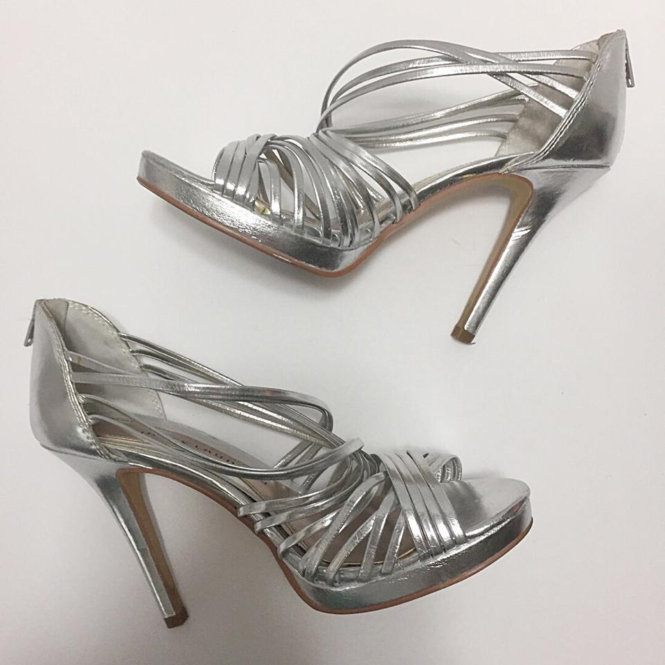 a1e1fd72901 Chinese Laundry Silver Strappy Metallic Formal Shoes Size US 9 Regular (M