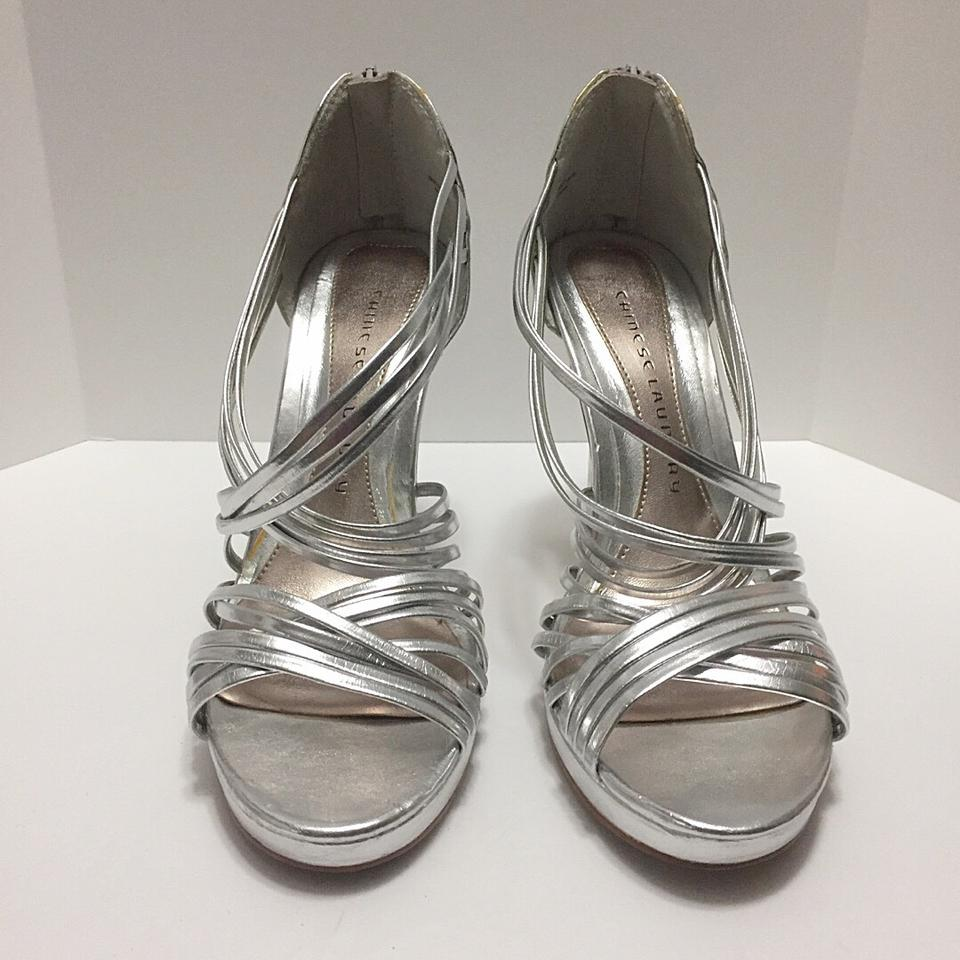 5d5aa8a9585 Chinese Laundry Silver Strappy Metallic Formal Shoes Size US 9 ...