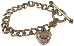 Juicy Couture Rhinestone Pave Heart Toggle Bracelet