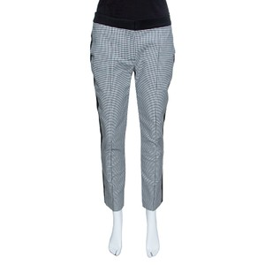 Mulberry Houndstooth Contrast Panel Trouser/Wide Leg Jeans